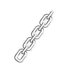 Chain metalic isolated icon vector