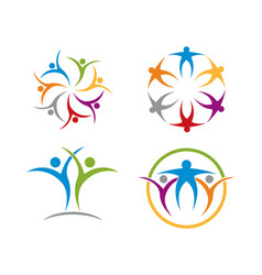 community care logo template vector image