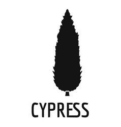 Cypress tree icon simple black style vector