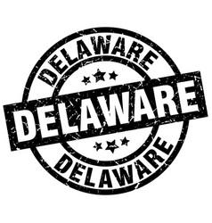 Delaware black round grunge stamp vector