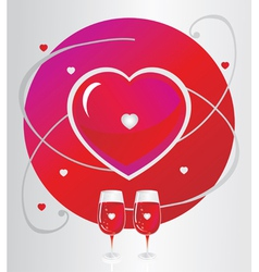 Glasses with a heart symbol vector image vector image