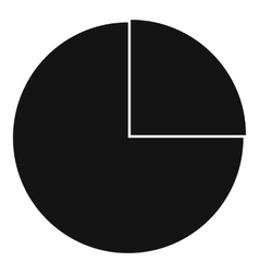Graphs chart statistic icon simple style vector
