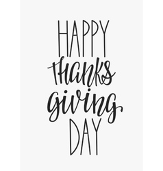 Happy Thanksgiving day lettering typography vector image vector image