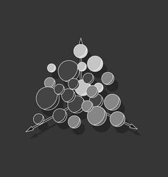 Paper sticker on stylish background geometric vector
