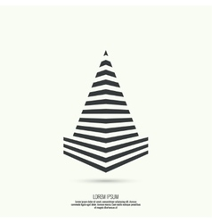 Pyramid of the strips vector image