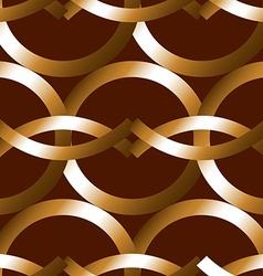 Seamless bold bronze rings geometrics pattern vector image vector image