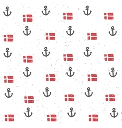 Seamless pattern with flags and anchors vector