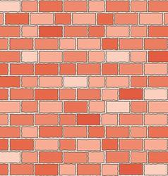 seamless red bricks wall vector image