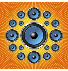 speakers background vector image vector image