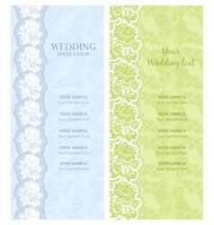wedding invitation template vector vector image vector image