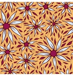 White aster seamless pattern vector