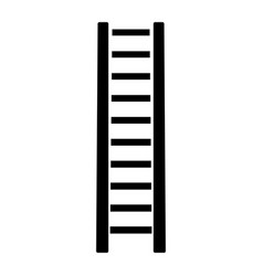 wooden step ladder the black color icon vector image vector image