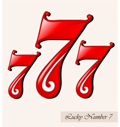 Lucky number seven vector