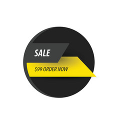 Sale discount design black yellow vector