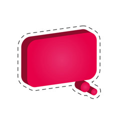 speech bubble dialog cut line vector image