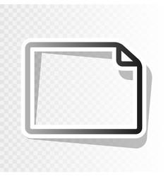 horisontal document sign   new vector image