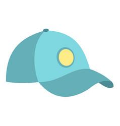 Blue baseball cap icon isolated vector
