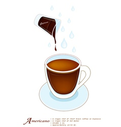 A cup of americano or cafe americano vector