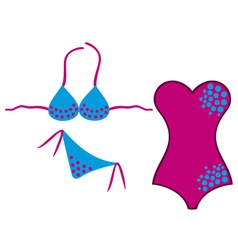 swimsuit and bikini vector image