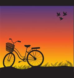 Sport bike vintage sunset and vector