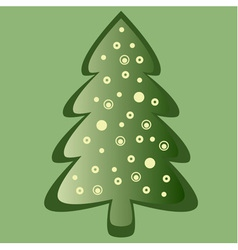 Green christmas card vector
