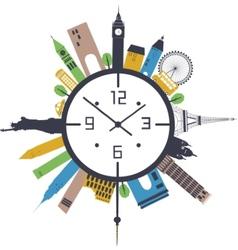 Travel clock vector image