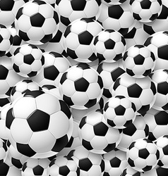 Pattern made of football soccer ball vector