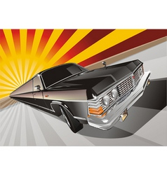 very long vintage limo vector image