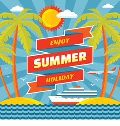Enjoy summer holiday - concept banner vector