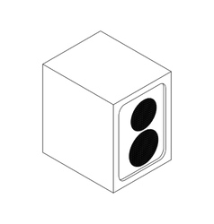 Music speaker icon isometric 3d style vector