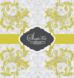Invitation vintage card with floral ornament with vector