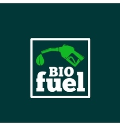 Logo or sign template abstract bio fuel vector