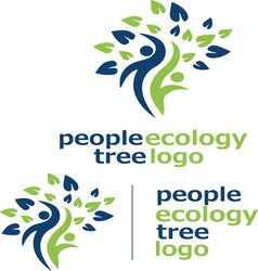 People ecology tree logo 3 vector