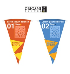 Abstract colorful triangle banner EPS10 vector image