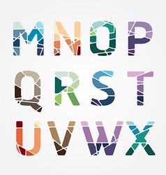 alphabet modern color abstract style Design vector image