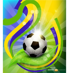 background on 2014 soccer brasil vector image vector image