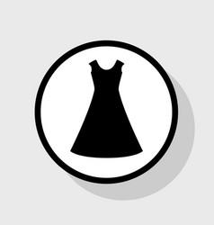 Beautiful long dress sign flat black icon vector