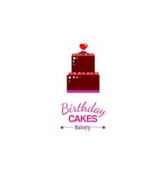 birthday cake card vector image vector image