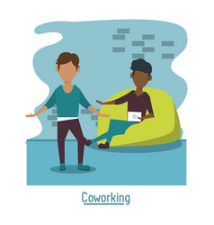 Business coworking office vector
