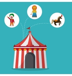 Circus lion and horse design vector image