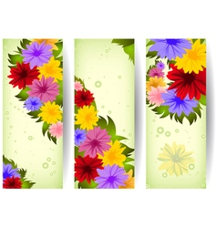Colorful floral banners vector