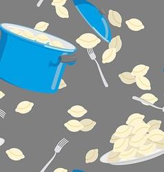 Dumplings pattern seamless casserole with vector