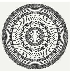 Ethnic mandala tribal hand drawn line geometric vector