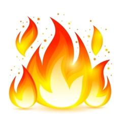 Fire decorative icon vector