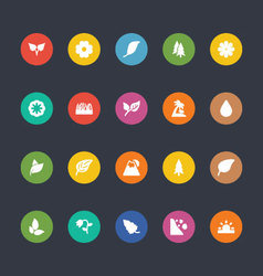 Glyphs colored icons 50 vector