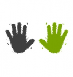 hands shape silhouette vector image