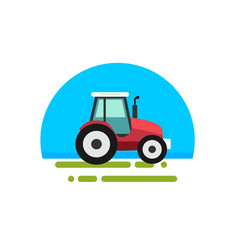 heavy red tractor vector image
