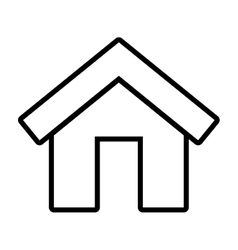 home house isolated icon vector image