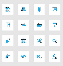 Industry colorful icons set collection of paint vector