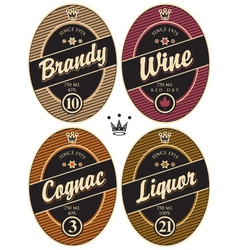 Labels for alcohol vector